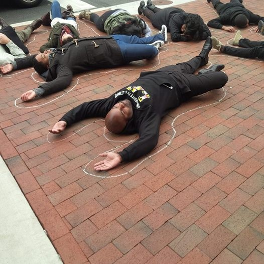 Die-in outside law center