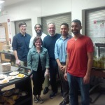 Dean Weich and students at Baltimore Station.