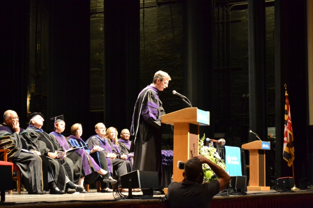 Maryland Attorney General Brian E. Frosh gave the commencement address at the University of Baltimore School of Law's 88th commencement on May 18, 2015.