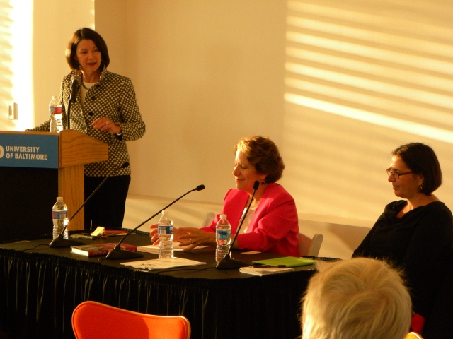 From left, UB Professor Jane Murphy and University of Maryland law professors Jana Singer and Leigh Goodmark at an Oct. 5 event to mark the publication of Murphy and Singer's new book.