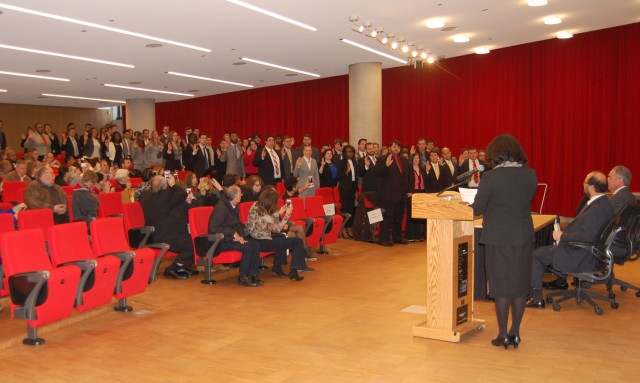 92 sworn in as student-attorneys by Maryland Court of Appeals Judge Shirley M. Watts.