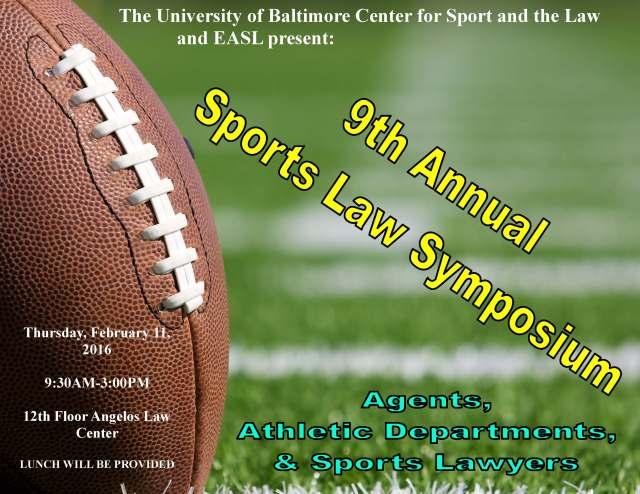 2016 Sports Law Symposium