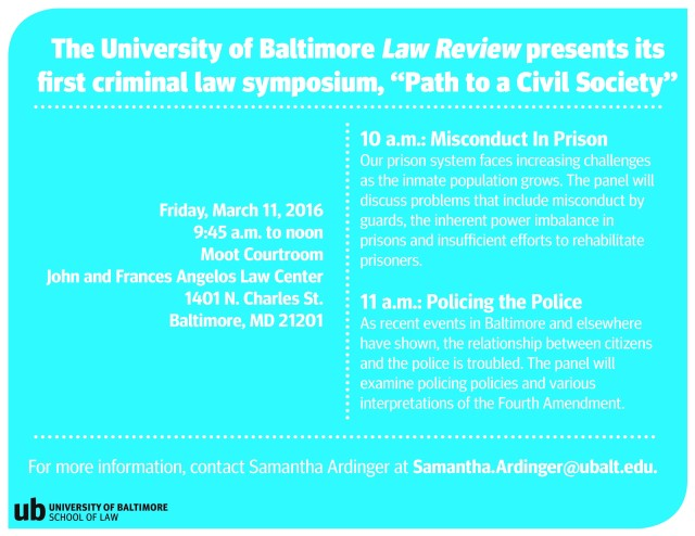 Law Review symposium -- 2-4-16