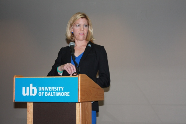 Laura Eskenazi, J.D. '92, the keynote speaker at the Eighth Annual Veterans' Legal Assistance Conference & Training.