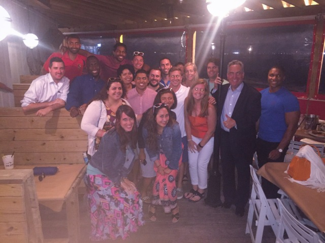 Dean Ronald Weich (second from right), students and staff at the MSBA convention in Ocean City.