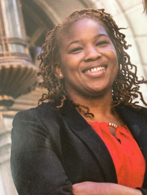 Myshala Middleton, J.D. '10, who was featured on the cover of Baltimore Law magazine last year.