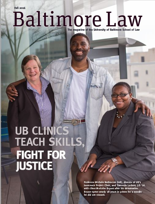 Baltimore Law (Fall 2016) cover