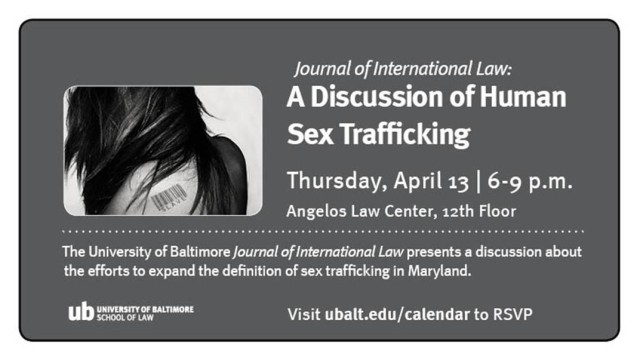 Human sex trafficking event 4-2017