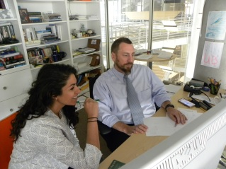 Colin and Zina in office 4