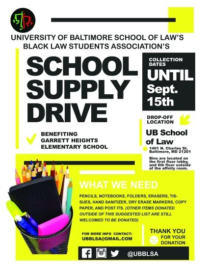 UB BLSA School Supply Drive
