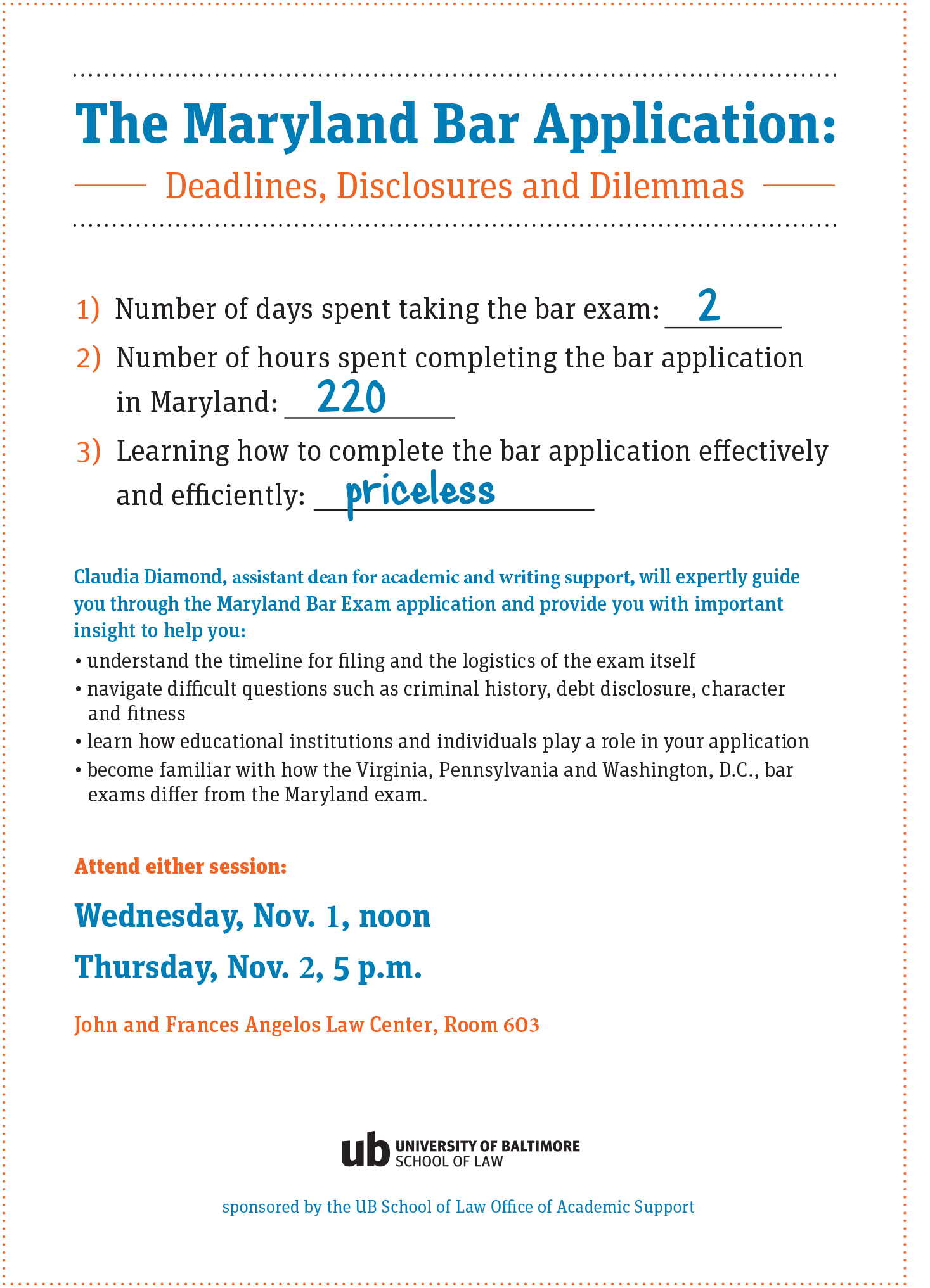 Sign up today to learn how to apply for the Maryland bar
