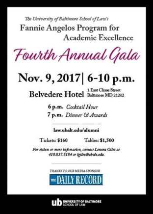Fannie Angelos gala invite