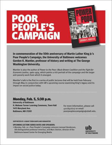 Poor People's Campaign flyer