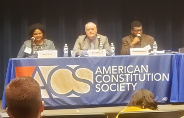 professor epps at American Constitution Society conference