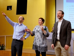 Professors Jaros, Emerson and Hubbard at UBSPI auction