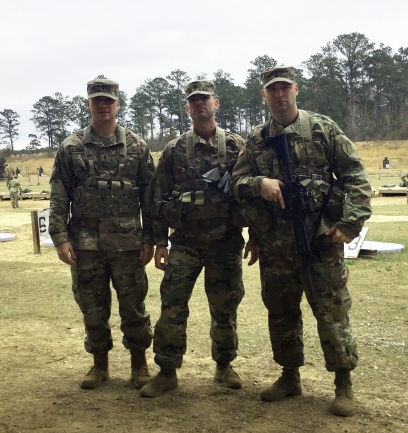 three alumni in Army JAG corps