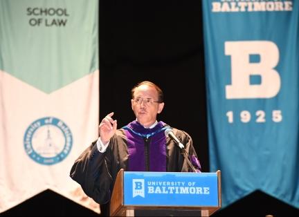Rod Rosenstein speaks at commencement
