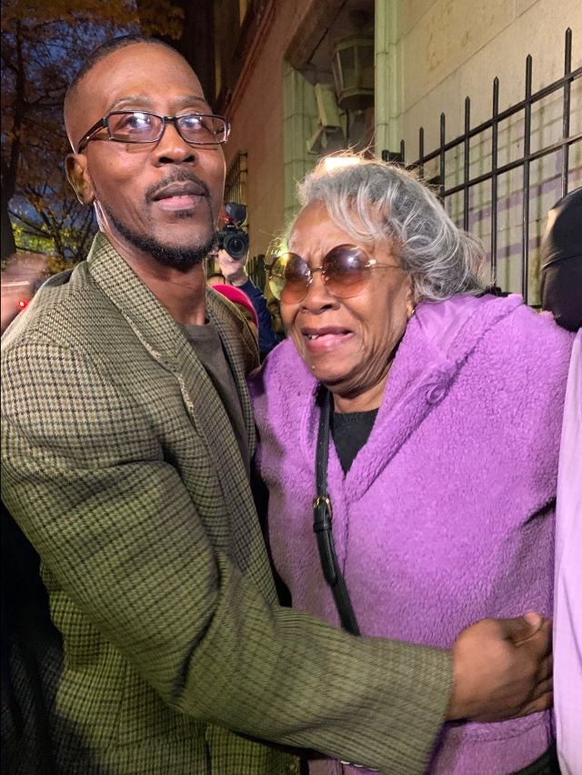 Alfred Chestnut and his mother, Sarah Chestnut, 75.